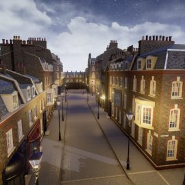 Cgtrader - London Street Environment Unreal Engine 4 Low